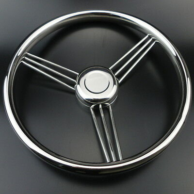 AU Stock 9 Spoke Stainless Steel Marine Boat Steering Wheel 13-1/2'' Practical