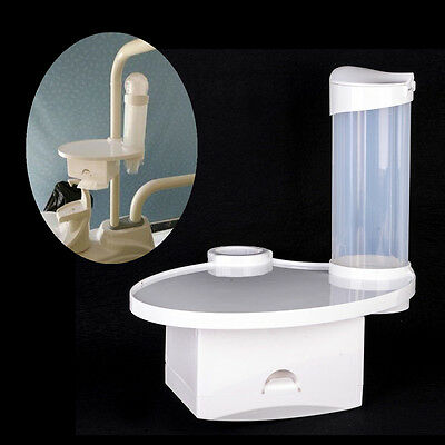 Dental Chair Accessories 1 Disposable Cup Storage Holder 1 Post Mounted Tray