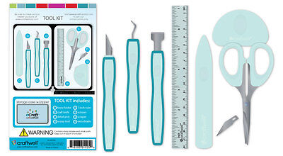 New CRAFTWELL eCraft 7pc DESIGNER TOOL KIT for use with Cut n Boss & ebosser ETC