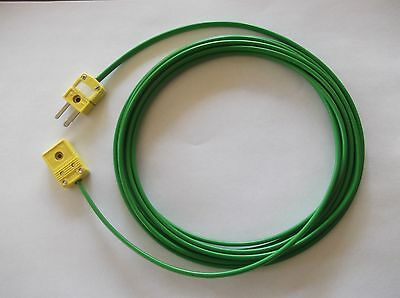 K Type Thermocouple Extension Cable ,3M Long With Connectors