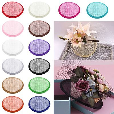 Round Sinamay Hat Fascinator Base Millinery Craft Making Material New