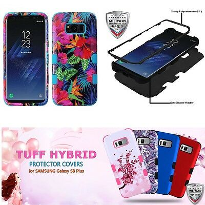 For Samsung Galaxy S8 + Plus Shockproof Slim Case / Screen Glass Protector Cover