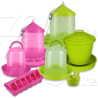 STOCKSHOP Bright Hen Chicken Poultry Water Drinkers Feeders Buckets Accessories