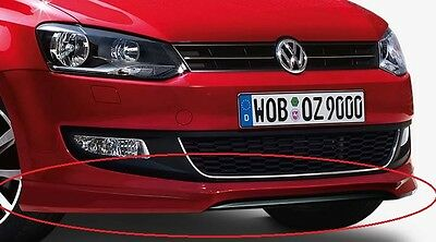 New Genuine Vw Polo 6R Accessory Front Lower Bumper Spoiler Skirt