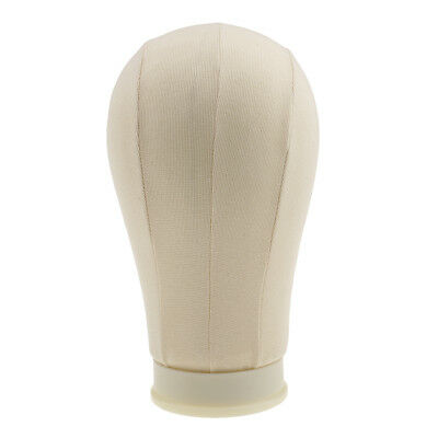 Professional Canvas Block Head Wig Making Hat Mannequin Salon Tool Beige 21""