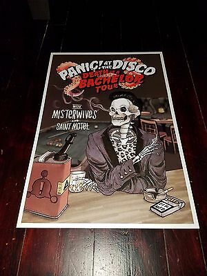 Panic At the Disco poster 2017 Death Of A Bachelor Tour Panic Concert poster