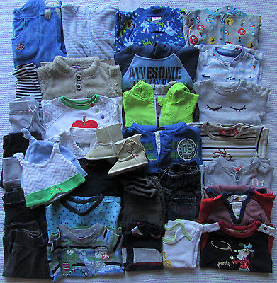 BULK Baby Boys Size 00/3-6m WINTER Clothes x32 Esprit Sprout Target Patch Seed
