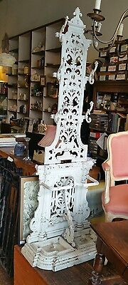 Victorian cast iron hall stand hat stand antique