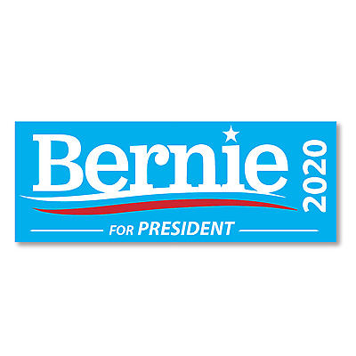"""5 """"Bernie Sanders For President 2020"""" Bumper Stickers FREE SHIPPING!"""