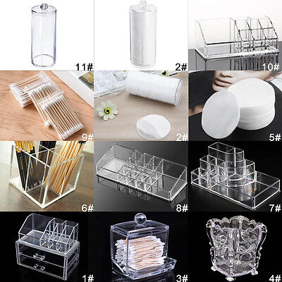 Clear Acrylic Cosmetic Organizer Makeup Case Holder Drawers Jewelry Storage AB