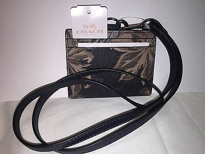 Authentic Coach Leather Lanyard Tropical Brown Diamond Brand New F65969 w/tag