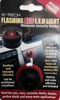 E-Tech Flashing Red LED - Dummy Alarm To Deter Thieves - Free Delivery