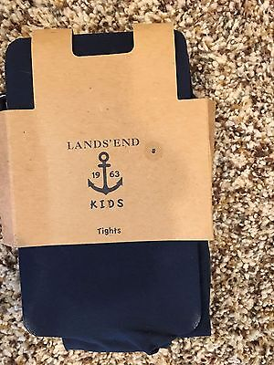 *New* Lands' End Girls Classic Navy Tights - Size Small (5-6X)