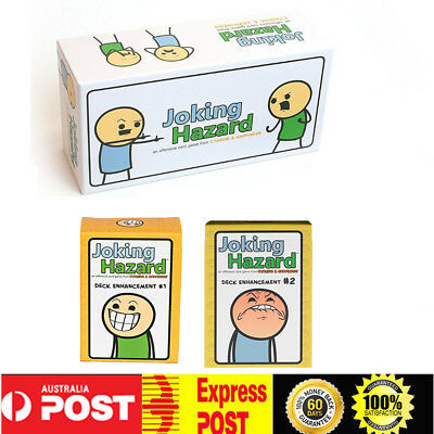 Joking Hazard Game Card Kickstarter Cyanide And Happiness Box & 1st expansion