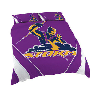 Melbourne Storm 2017 NRL Quilt Cover Set Single Double Queen King Pillowcase