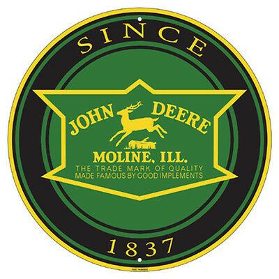 John Deere Metal Sign - Round 1837