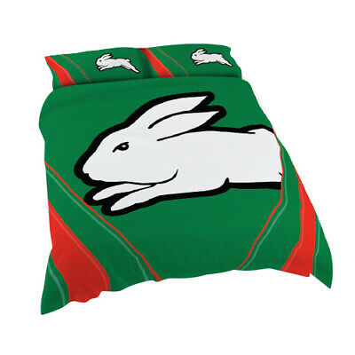 South Sydney Rabbitohs 2017 NRL Quilt Cover Set Single Double Queen King