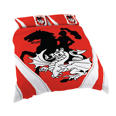 St George Illawarra Dragons 2017 NRL Quilt Cover Set Single Double Queen King