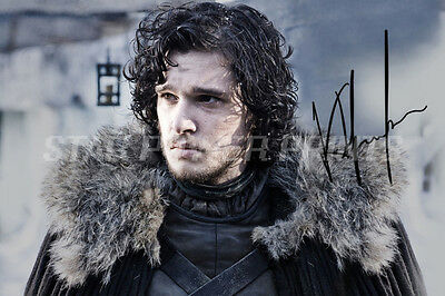 Kit Harington Signed Photo Print Poster N.o 1 - 12 X 8 Inch  A+ Quality