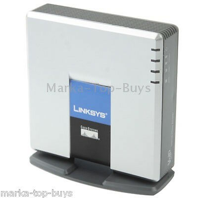 Unlocked LINKSYS PAP2T VOIP PSTN Phone Adapter with 2x Phone Ports