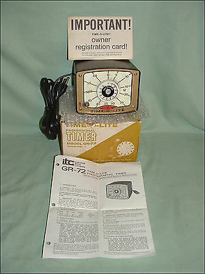 Itc Time-O-Lite Gr-72 Darkroom Enlarger Timer ~ New Old Stock