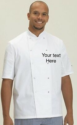 Chef Jacket personalised short sleeve catering jacket printed workwear catering