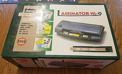 "Ibico Laminator HL-9 Laminating Machine 9"" - New in Box"
