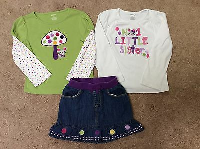 Gymboree Toddler Girls Tops & Skirt--Size 5T