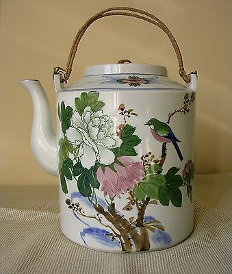 Early 20th Century Chinese Hand Painted Teapot Extra-Large !!