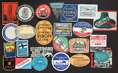 Hotel Luggage Labels Stickers | Various Sizes and Destinations