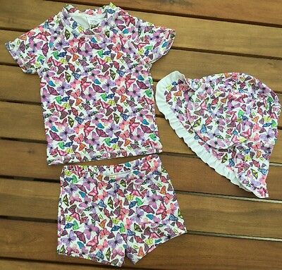 Gorgeous Next Baby Girls Butterfly Swimsuit/Costume & Hat Set, 9-12 Months, VGC!