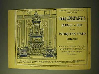1893 Liebig Company's Extract of beef Ad - This shows the exhibit