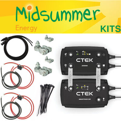 CTEK D250SA & SMARTPASS Battery Smart Alternator Charger Kit - VW T6 FREE CABLES