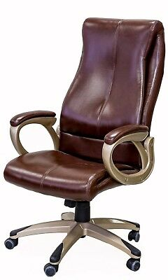 ViscoLogic Series YS-8709 Executive Office Chair, BROWN