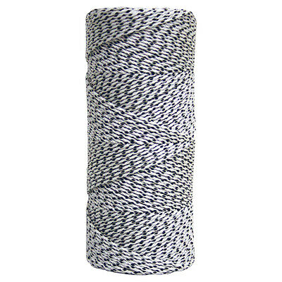 Kraft White & Black Bonded Braided Line - 500' Tube Building Builders Line