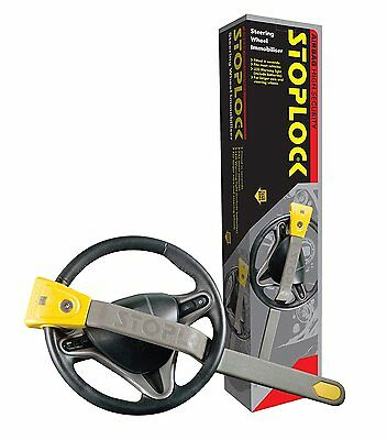 Stoplock Airbag Car Van Yellow Grey Anti Theft High Security Steering Wheel Lock
