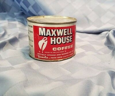 4 oz Maxwell House Coffee can UNOPENED Red Label Collectors Display can