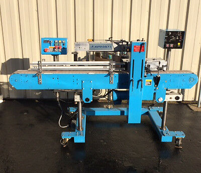 NJM Pressure Sensitive Wrap Around Labeler, Running, Video link listed