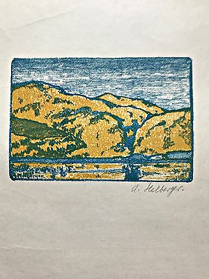 Alfred Hermann Helberger, Berlin,  Farblithographie, 1912,  signiert, Nr. 3