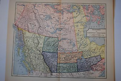 antique map western canada  19th c