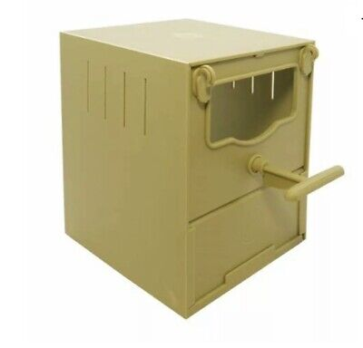 PLASTIC FINCH NEST BOX with HOOKS Front and Back / Finches