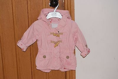 Baby Girls NEXT Hooded Summer Coat - age 6-9months - Excellent condition