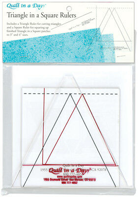 Quilt In A Day Triangle In A Square Ruler Set 2/Pkg 2008