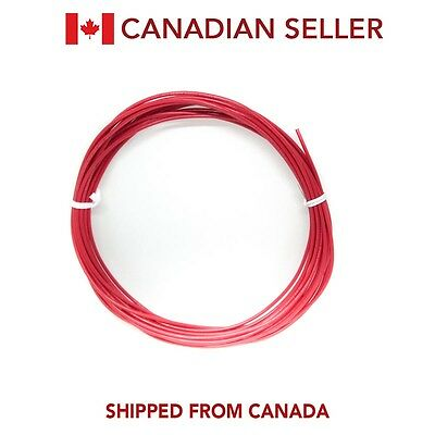 25ft 20 AWG Hook Up Lead Wire Stranded UL1015 CSA MTW TEW AWM, Red