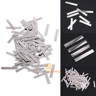 100pcs 0.1x4x2.5mm Nickel Plated Steel Strap Strip Sheet for Battery Spot Welder
