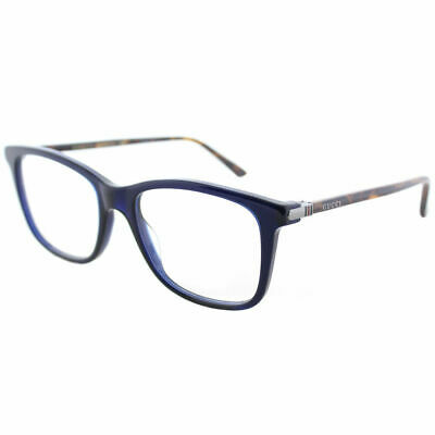 5fa136e0668 GUCCI GG0018O 003 Blue Plastic Square Eyeglasses 52mm -  157.04 ...