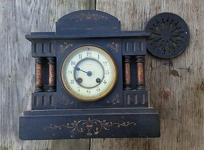 Beautiful antique mantel clock in need of restoration