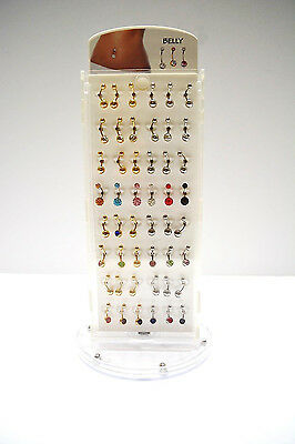 Rotating Belly Ring Display 96Pcs Total $75.00 (Less Than $1.00/pc!!) Free Ship