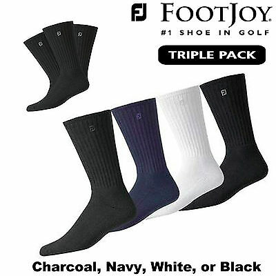 Footjoy Golf Socks Footjoy Comfortsof Mens Uk Size 7-12 Black White Navy X3 Pack