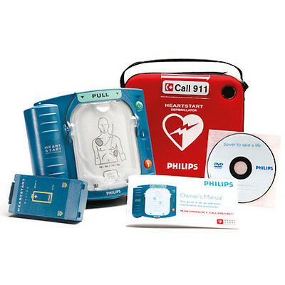 New Philips HeartStart AED Onsite Defibrillator Factory Sealed 5 YR Warranty HS1